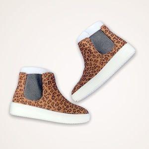 Platform Leopard Sneakers Cheetah Animal Print NWT